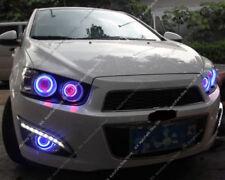 For Chevrolet Sonic Aveo 2011-2013 DRL Daytime Day Fog Lights + COB k Angel Eyes
