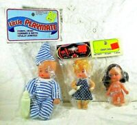 Vintage Hong Kong Plastic Dolls Little Playmate Mini Doll Older Fibre Craft 3017