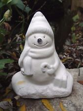 Snowman mold concrete plaster casting Christmas mould free standing statue