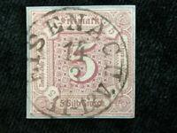 Altdeutschland Thurn und Taxis 1859/1861-MiNr.18 Briefstück 5 Sgr.breiter Rand