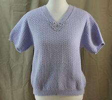 Blair, Medium, Lavender Short Sleeve Sweater
