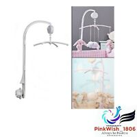 Baby Crib Bed Bell Holder Toy Arm Bracket Wind-up Music Box Hanging Stand