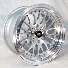 MST MT10 15x8 4x100/4x114.3 +25 Silver Rims Fits Integra Civic Miata E30 Fox