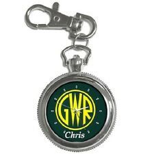 GREAT WESTERN RAILWAY GWR LOGO PERSONALISED KEYCHAIN WATCH **ANY NAME YOU WANT**