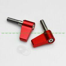 Rotating Knob Red M5 20mm Wingnut Thumb Lever Screw fr 15mm Rod Clamp Rail Block