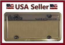 ACRYLIC SMOKE BUBBLE LICENSE PLATE FRAME COVER PLASTIC AUTO TAG SHIELD HOLDER