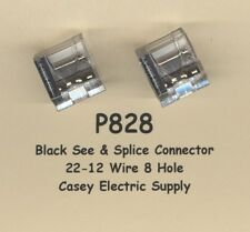 10 BLACK See & Splice Push On Wire Nuts 8 Terminal Connectors #22-12 Wire MOLEX