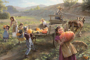 """End of Harvest"" Morgan Weistling Americana Limited Edition Giclee Print"