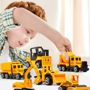 Child Engineering Mini Excavator Truck Construction Digger Vehicle Car Toy Gift
