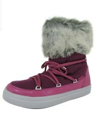Crocs Womens LodgePoint Lace Up Snow Boot Shoes Pomegranate Size 6 NEW