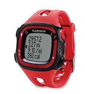 New Garmin Forerunnger GPS Heart Rate Monitor Running Black/Red Sports Watch