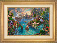 Thomas Kinkade Studios Peter Pan's Never Land 18 x 27 LE S/N Canvas Framed