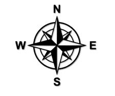 2 Aufkleber Windrose Kompass Karte Sticker Tuning Spiegel Tür decal 24 #8320