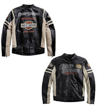 JACKET COAT HARLEY DAVIDSON GENUINE LEATHER BIKER SIZE XL **STOCK** SALE -25%