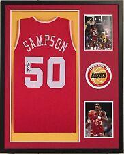 Ralph Sampson Autographed Custom Framed Houston Rockets Jersey 'HOF 12' JSA COA