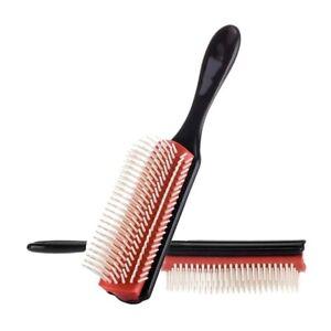 Denman Cushion Comb Nylon Bristle 9-Row Detangle Distributor Curly Hair