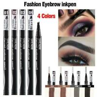 4 Tip Fork Microblading Eyebrow Pencil Tattoo Pen Waterproof Long Lasting Makeup