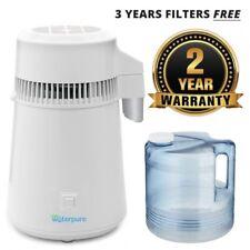 Acero Inoxidable Blanco agua destilador con jarra de colección de policarbonato