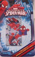 Marvel The Ultimate Spider-Man Kids Boys 2 Piece Bath Set Bath Towel Wash Mitt