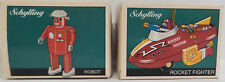 TIN PLATE : ROBOT & ROCKET FIGHTER ORANMENTS MADE BY SCHYLLING I 1997