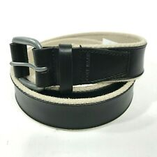Cole Haan Mens Feather Edge Smooth Panel Belt 34 Black AA00147 $78