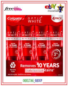 Colgate Optic White Renewal Toothpaste 4.1 oz, 4-pack