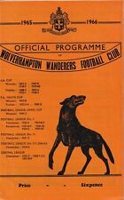 Wolverhampton Wanderers Manchester United 1965 66 Football Programme FA Cup
