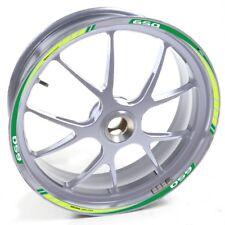 ESES Pegatina llanta Honda plata Deauville 650 Verde adhesivo cintas vinilo