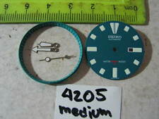 BLUE Dial Hands Minute Marker Ring SET NEW made for SEIKO DIVER 4205 Automatic