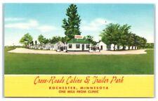 Vintage Cross-Roads Cabins & Trailer Park, Rochester, MN Postcard
