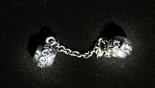 Pandora Silver Eternal Hearts Safety Chain, 791088, Mint Condition