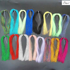 16Colors Crystal Krystal Flash Holographic Flashabou Sparkle Fly Tying Materials