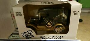 NIB! 1923 Chevrolet Delivery Van Replica Bank Limited Edition Diecast Metal F/S!