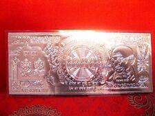 Diwali Dhanteras Vijayadashami,Dussehra Puja Lucky Charm 999 Silver Note RS 1000
