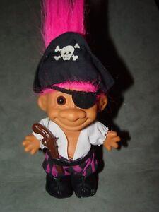 "Troll Doll 4 1/2"" Russ Sinbad the Pirate Pink Hair"