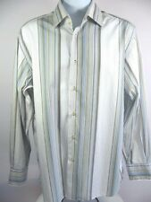 BRANDOLINI Mens Dress Shirt Button Front Long Sleeve Made in ITALY 17 1/2 44