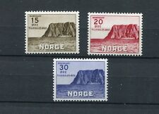 NORWAY DURING GERMAN OCCUPATION 1943 NORTH CAPE SCOTT B28-B30 PERFECT MNH