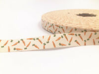 15mm Printed carrot Cotton Ribbon Handmade Present Package DIY sewing Craft