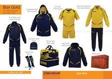 BOX GOLD GIVOVA 8 pezzi tg. M BLU GIALLO Forniture Calcio,Volley Completi promo