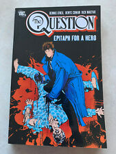 THE QUESTION Epitaph For A Hero TPB DC COMICS VERY RARE OOP GRAPHIC NOVEL Vol 3