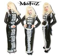Misfitz leather look padlock hobble maids dress sizes 8-32/made to measure TV