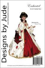 "Enchanted Gown Doll Clothes Sewing Pattern for 16"" Delilah Noir Ashton Drake"