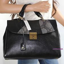 NWT Marc Jacobs Black Leather & Python The 1984 Shoulder Bag Satchel C0001083