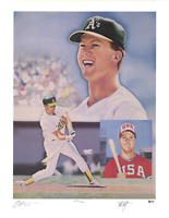 Mark McGwire signed autographed poster! RARE! Beckett BAS Authenticated!