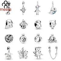 MEEIE 925 Sterling Silver Bead Dumbo Elephant Magic Dragon Charm Dangle Bracelet