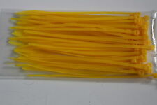Cable ties zip ties 100 x 2.5 mm Yellow colour 100 per pack!