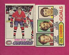 1977-78 OPC CANADIENS MURRAY WILSON + LAFLEUR LEADER  CARD