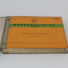 Mercedes W105 Typ 219 Ersatzteilliste Ersatzteilkatalog Spare Parts List - 1959
