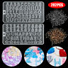 Alphabet Letter Number Silicone Mold DIY Jewelry Making Mould Epoxy Resin Crafts