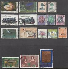 Thailand post-1988 hi val selection 17 diff used stamps cv $40
